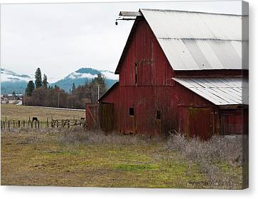 Hayfork Red Barn Canvas Print