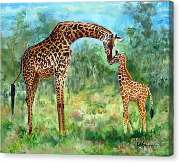 Haylee's Giraffes Canvas Print