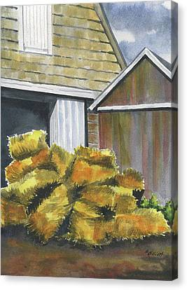 Haystack Canvas Print by Marsha Elliott