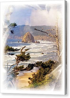 Canvas Print - Haystack Rock  by Marty Koch