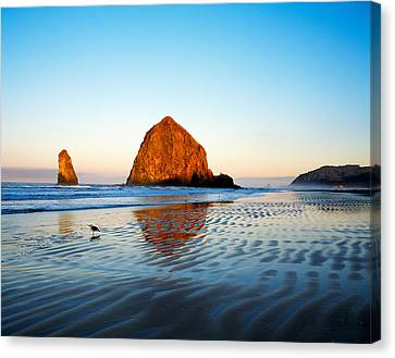 Haystack Rock Canvas Print by Panoramic Images