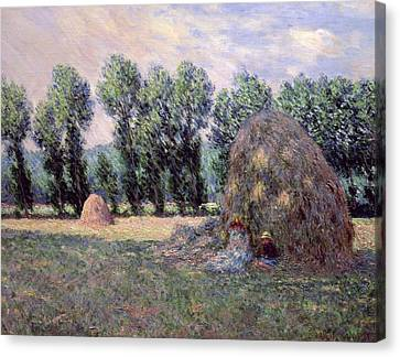 Haystacks Canvas Print by Claude Monet