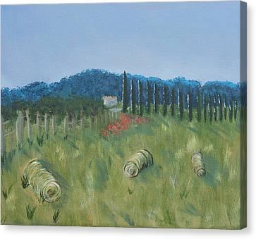 Haystacks Canvas Print by Maura Satchell