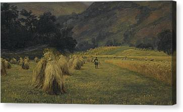 Fearnley Canvas Print - Haystacks, Rydal, Cumbria by Thomas Fearnley
