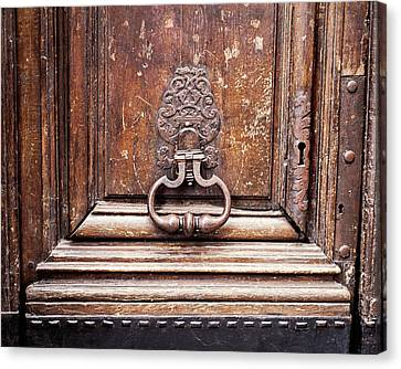 Canvas Print featuring the photograph Hazel - Paris Door Photography by Melanie Alexandra Price