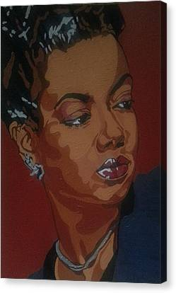 Hazel Scott Canvas Print by Rachel Natalie Rawlins