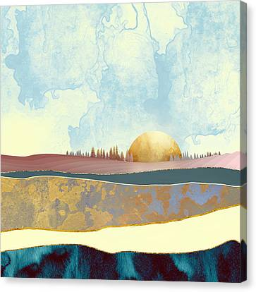 Textured Landscape Canvas Print - Hazy Afternoon by Katherine Smit