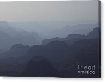 Canvas Print featuring the photograph Hazy Canyon by Erica Hanel