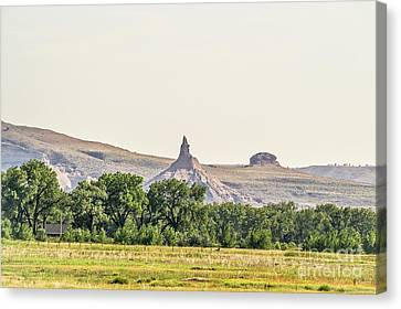 Canvas Print featuring the photograph Hazy Chimney Rock by Sue Smith