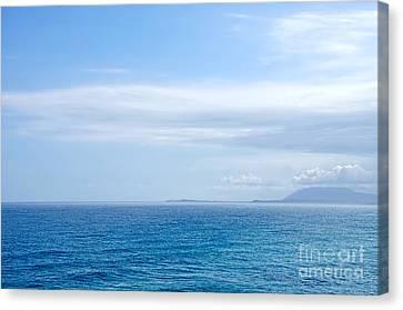 Hazy Ocean View Canvas Print by Kaye Menner