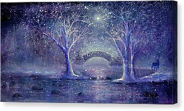 Hazy Shade Of Winter Canvas Print by Ann Marie Bone