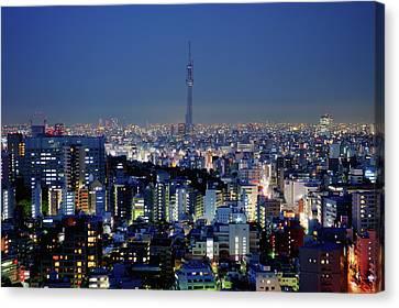 Hazy Skyline With Tokyo Sky Tree Canvas Print by Hidehiko Sakashita