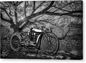 Canvas Print featuring the photograph Hd Cafe Racer  by Louis Ferreira