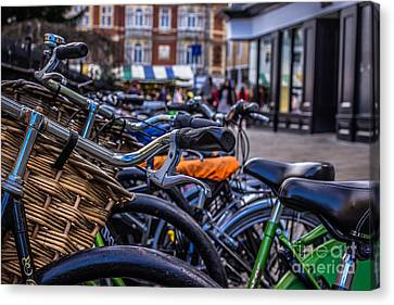 Hdr Bikes Canvas Print by David Warrington