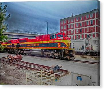 Hdr Fun With Trains Canvas Print by Dustin Soph