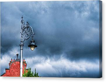 Hdr Street Lamp Canvas Print by Andrea Barbieri