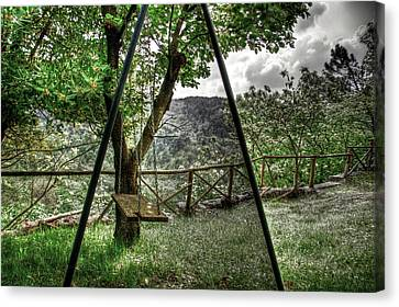 Hdr Swing Canvas Print by Andrea Barbieri