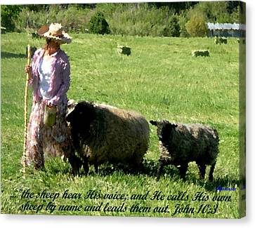 Canvas Print featuring the painting He Calls His Own Sheep By Name by Anastasia Savage Ealy