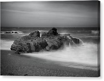 He Enters The Sea Canvas Print by Laurie Search