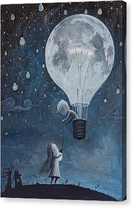 He Gave Me The Brightest Star Canvas Print by Adrian Borda