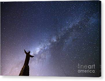 He Held The Stars In The Palm Of His Hand Canvas Print