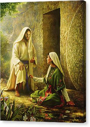 Power Canvas Print - He Is Risen by Greg Olsen