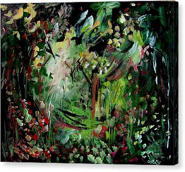 He Lights Our Path Canvas Print by Ellen Seymour