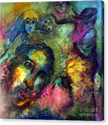 He Lives In Everything Canvas Print by Denice Rinks
