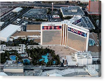 he Mirage Hotel on the Strip, Las Vegas Canvas Print by PhotoStock-Israel