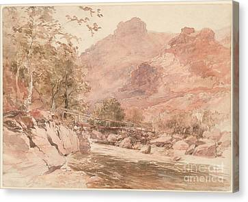he Old Miner's Bridge over the River Conway Canvas Print by Celestial Images