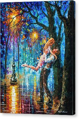 He Proposal  Canvas Print by Leonid Afremov
