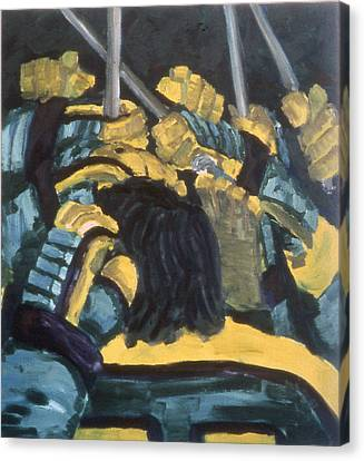 He Scores Canvas Print by Ken Yackel