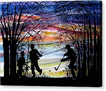 He Shoots And Scores Canvas Print by NHowell