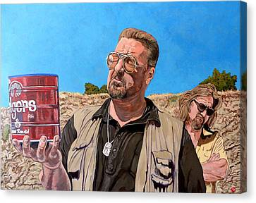 Canvas Print featuring the painting He Was One Of Us by Tom Roderick