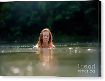Head Above The Water Canvas Print by Dan Friend
