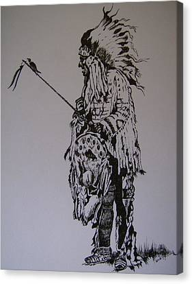 Head Dress Canvas Print by Leslie Manley