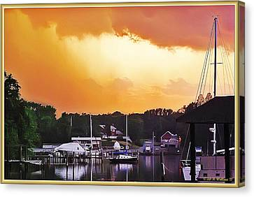 Canvas Print featuring the photograph Head For Safety by Brian Wallace