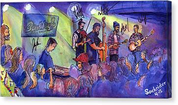 Canvas Print featuring the painting Head For The Hills At Barkley Ballroom by David Sockrider