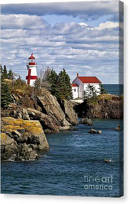 Head Harbour Lighthouse Canvas Print by John Greim