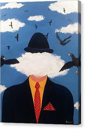 Head In The Cloud Canvas Print