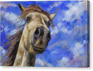 Head In The Clouds Canvas Print by Billie Colson