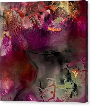 In The Purple Silk / Dans La Soie Mauve Canvas Print by Carole Thivierge