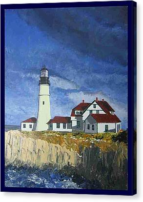 Head Lighthouse  Canvas Print