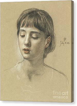 Head Of A Girl, 1883 Canvas Print