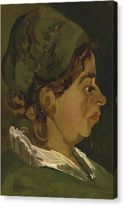 Head Of A Peasant Woman Canvas Print by Vincent Van Gogh