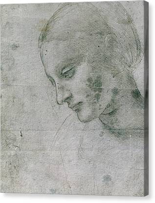 Head Of A Young Woman Or Head Of The Virgin Canvas Print