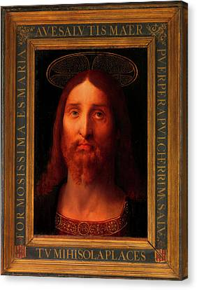 Canvas Print featuring the painting Head Of Christ                                   by Fernando De La Almedina