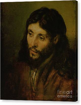 Head Of Christ Canvas Print by Rembrandt