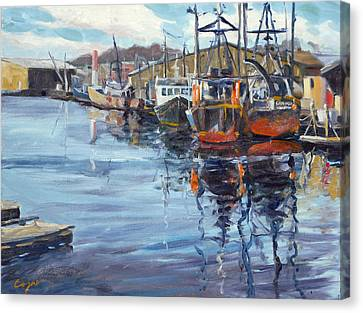 Head Of Gloucester Harbor Canvas Print by Chris Coyne