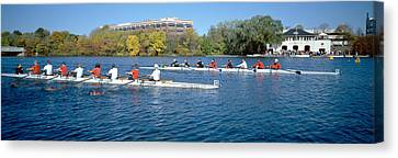 Head Of The Charles Rowing Festival Canvas Print by Panoramic Images